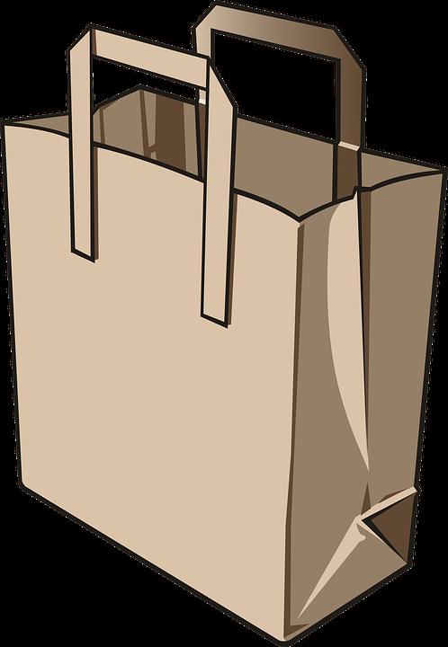 duże papierowe torby z logo firmy